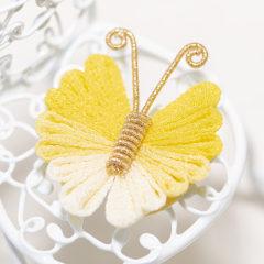 """Chirimen butterfly"" work by Taiga Asahara"